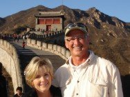 Sig and Nancy at The Great Wall of China